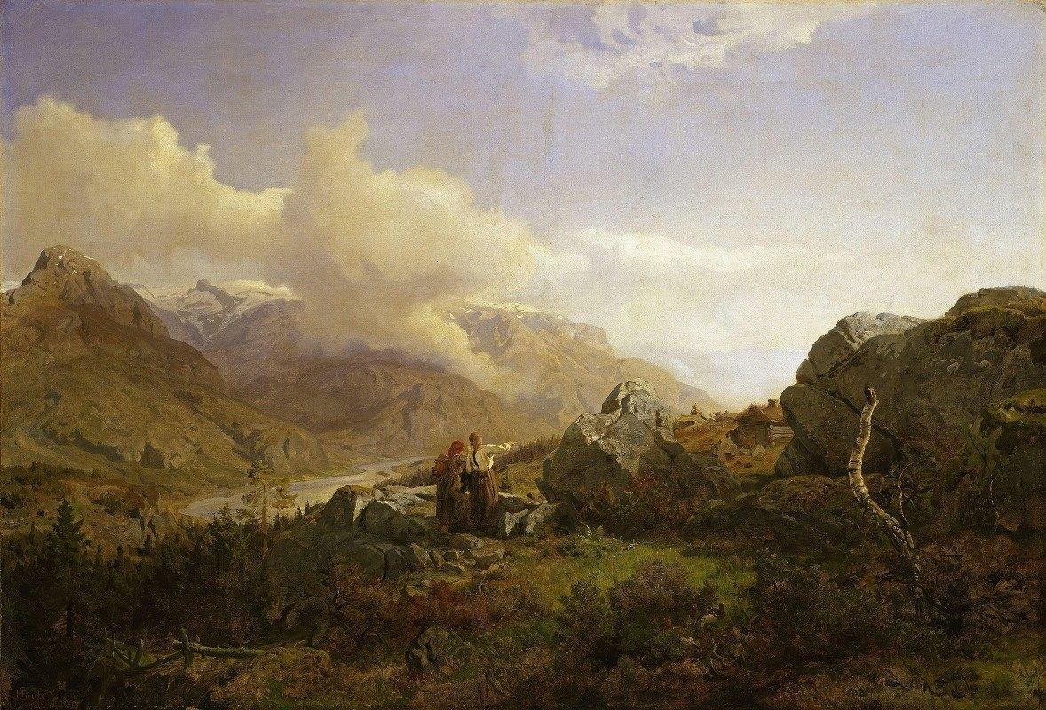 Hans Gude - Norwegian Highlands