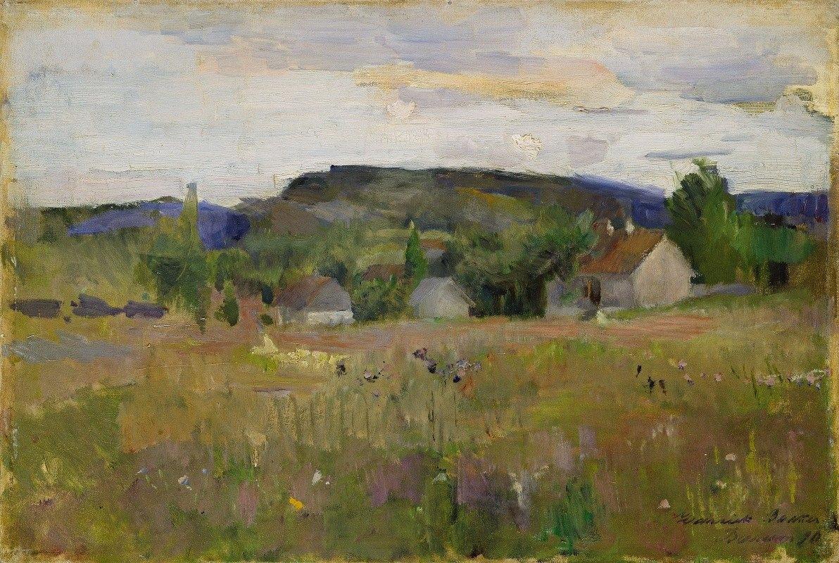Harriet Backer - Landskap fra Bærum