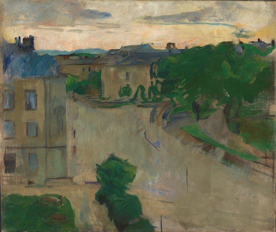 Harriet Backer - View from my Balcony, Hansteensgate