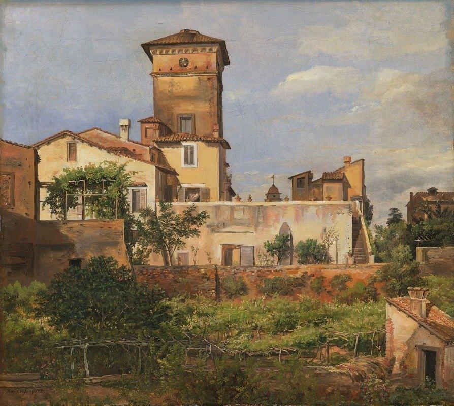 J.C. Dahl - The Villa Malta, Rome