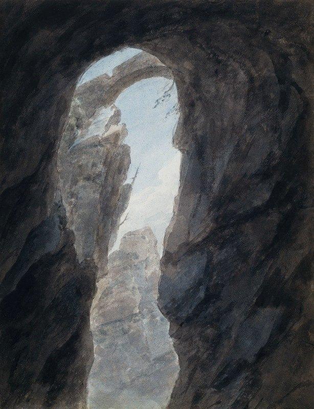 John Robert Cozens - Ravine in the Campagna