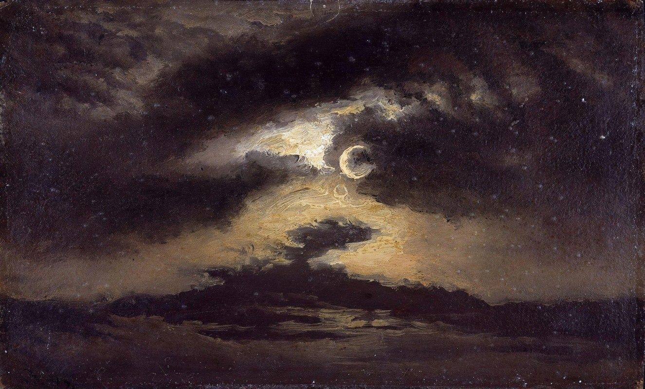 Knud Baade - Clouds in Moonlight