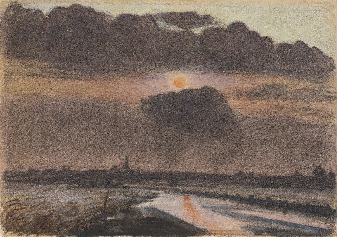 Oscar Bluemner - Sunset on theRiver