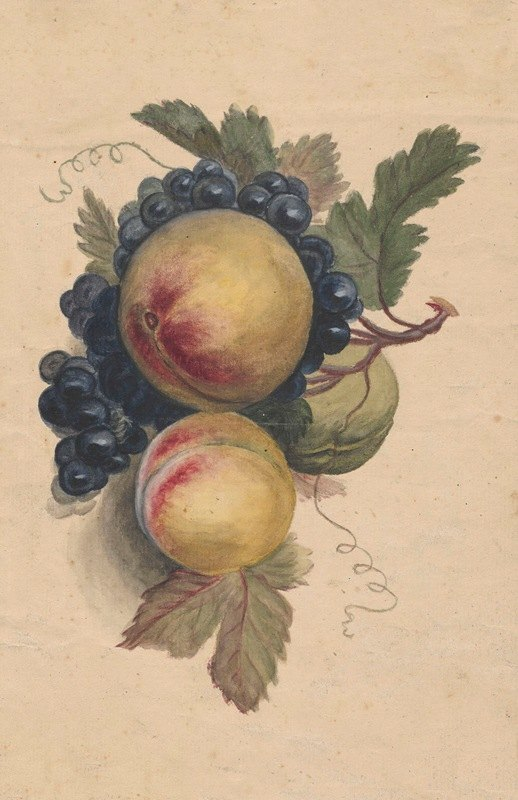 Henryka Beyer - Peaches and grapes