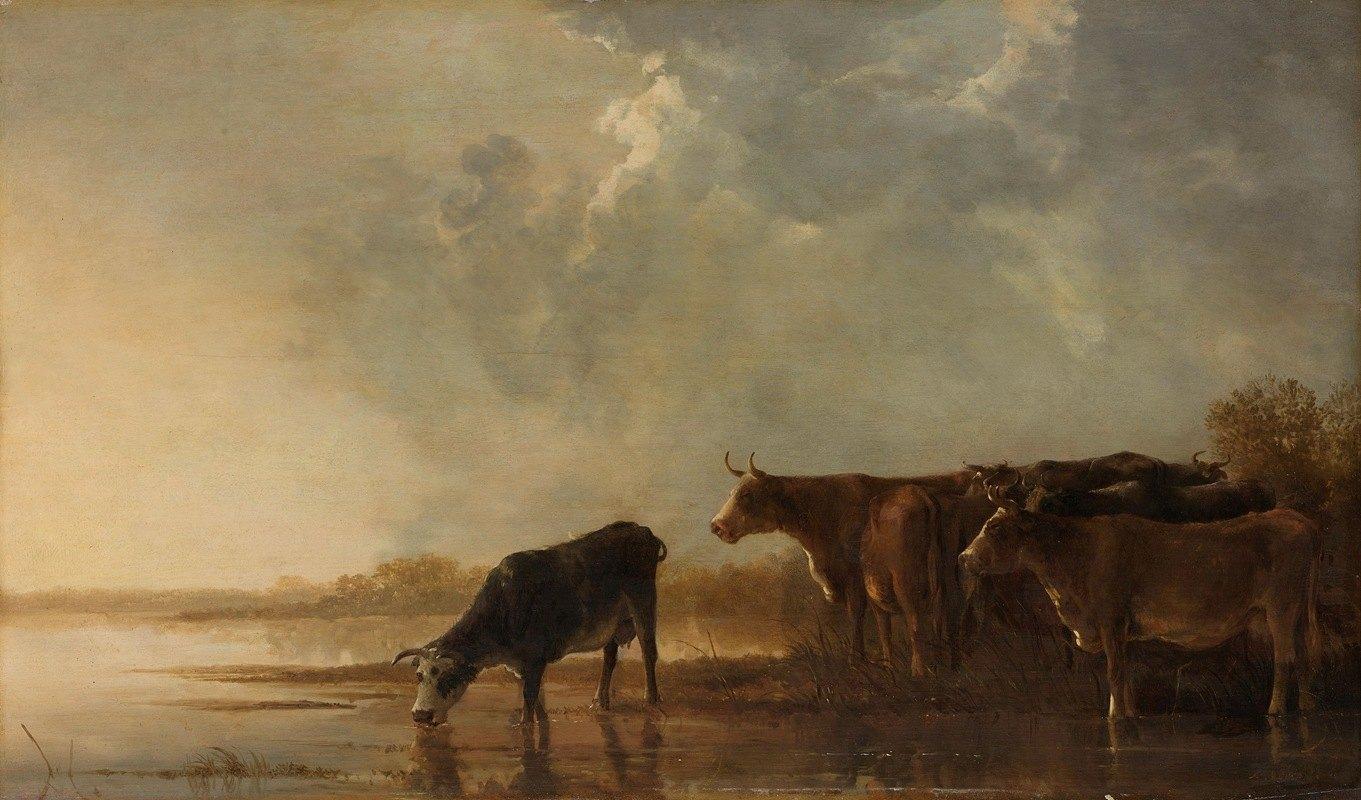 Aelbert Cuyp - River Landscape with Cows