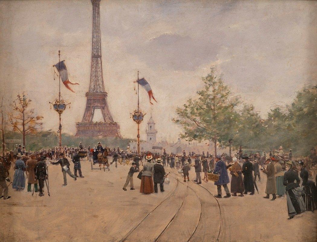 Jean Béraud - Entrée de l'exposition universelle de 1889