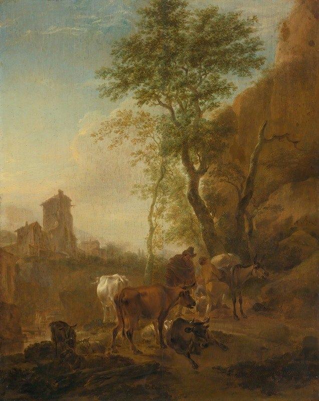 Nicolaes Pietersz. Berchem - Italianate Landscape With Cows