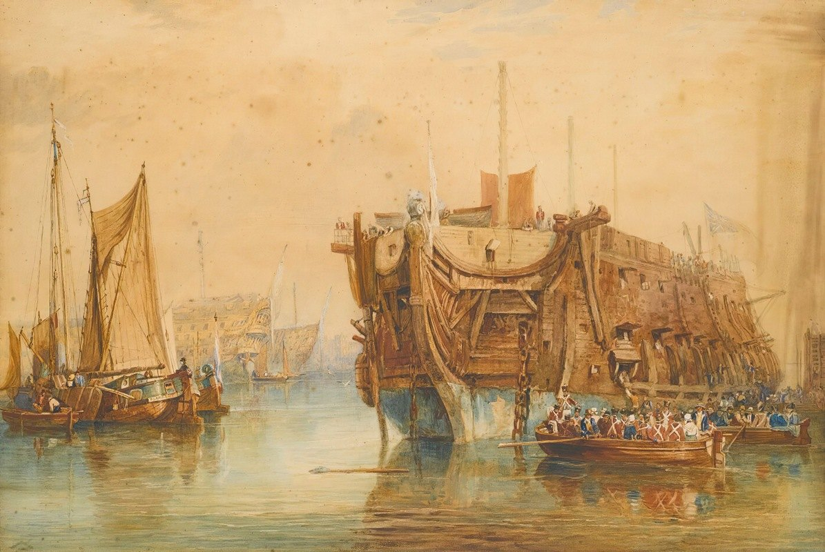 Samuel Prout - Receiving Ship, Portsmouth