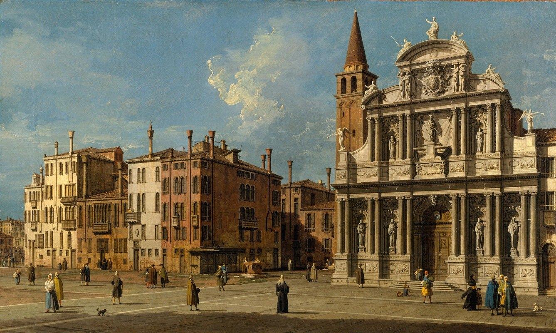 Canaletto - Campo Santa Maria Zobenigo, Venice