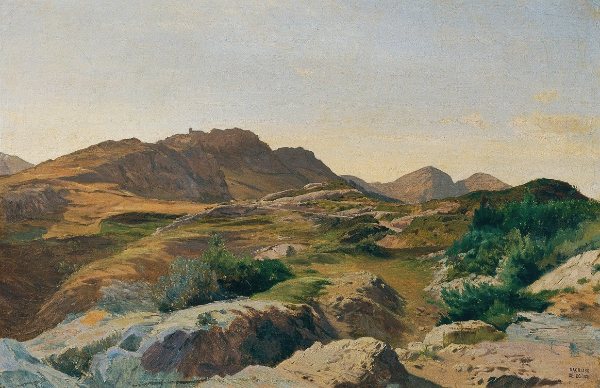Carl Schuch - Landschaft im Sabinergebirge