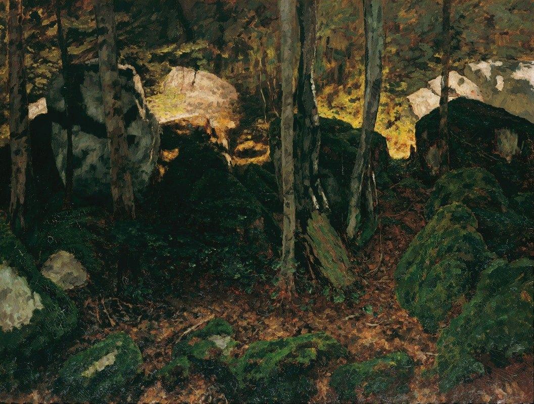 Carl Schuch - Waldinneres bei Saut du Doubs