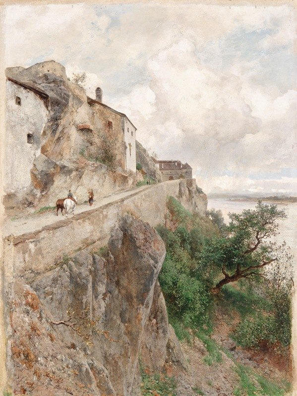 Eduard Peithner von Lichtenfels - Dürnstein – Am Weg zum Schloss