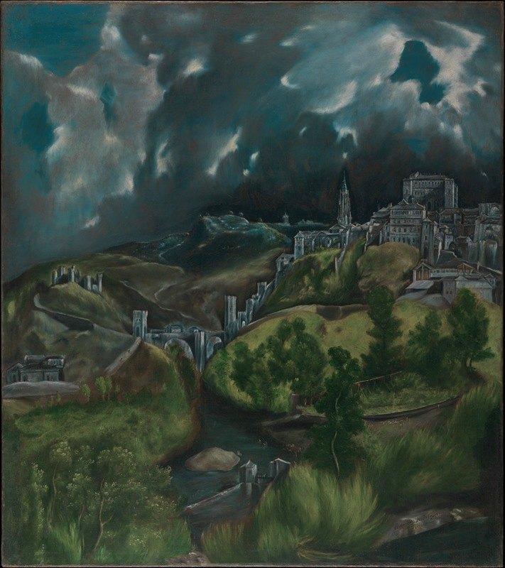 El Greco (Domenikos Theotokopoulos) - View of Toledo
