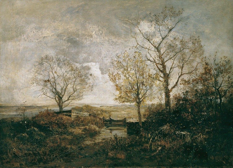 Emil Jakob Schindler - Herbstlandschaft am Fluss