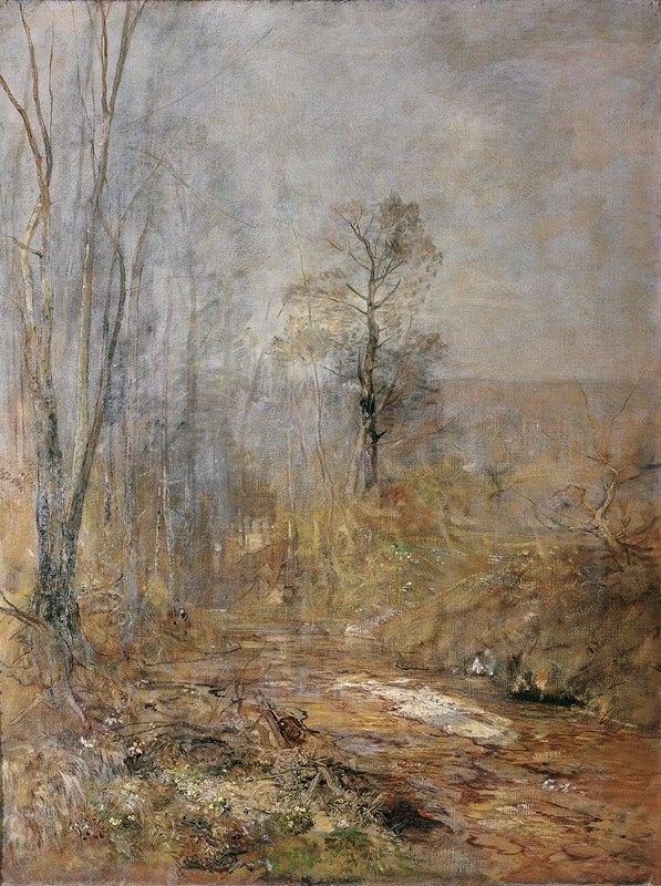 Emil Jakob Schindler - Märzstimmung – Vorfrühling im Wienerwald