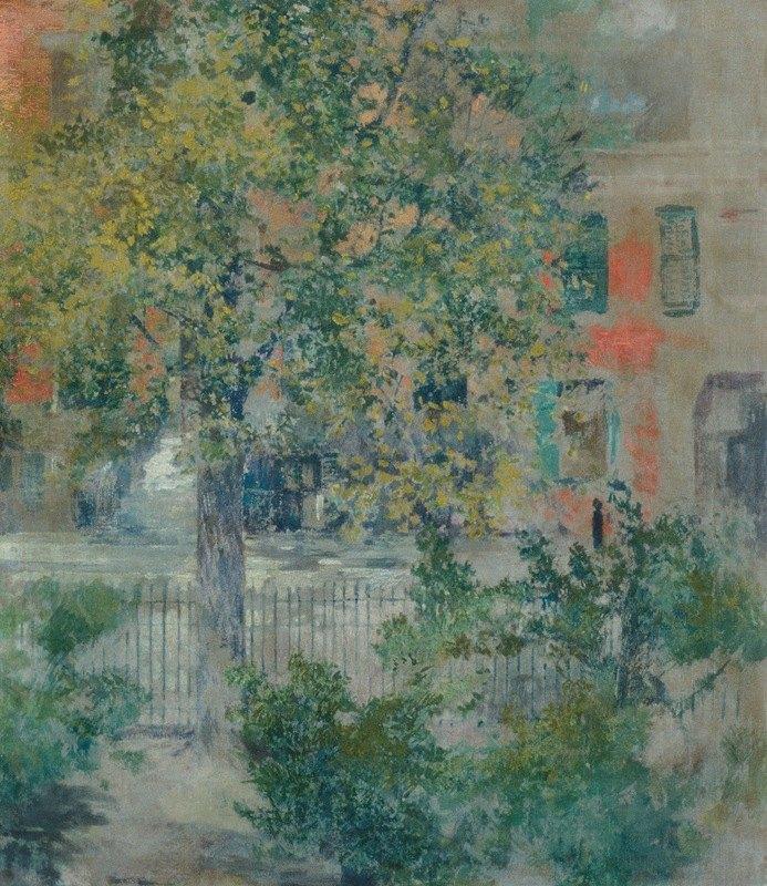 Robert Frederick Blum - View from the Artist's Window, Grove Street