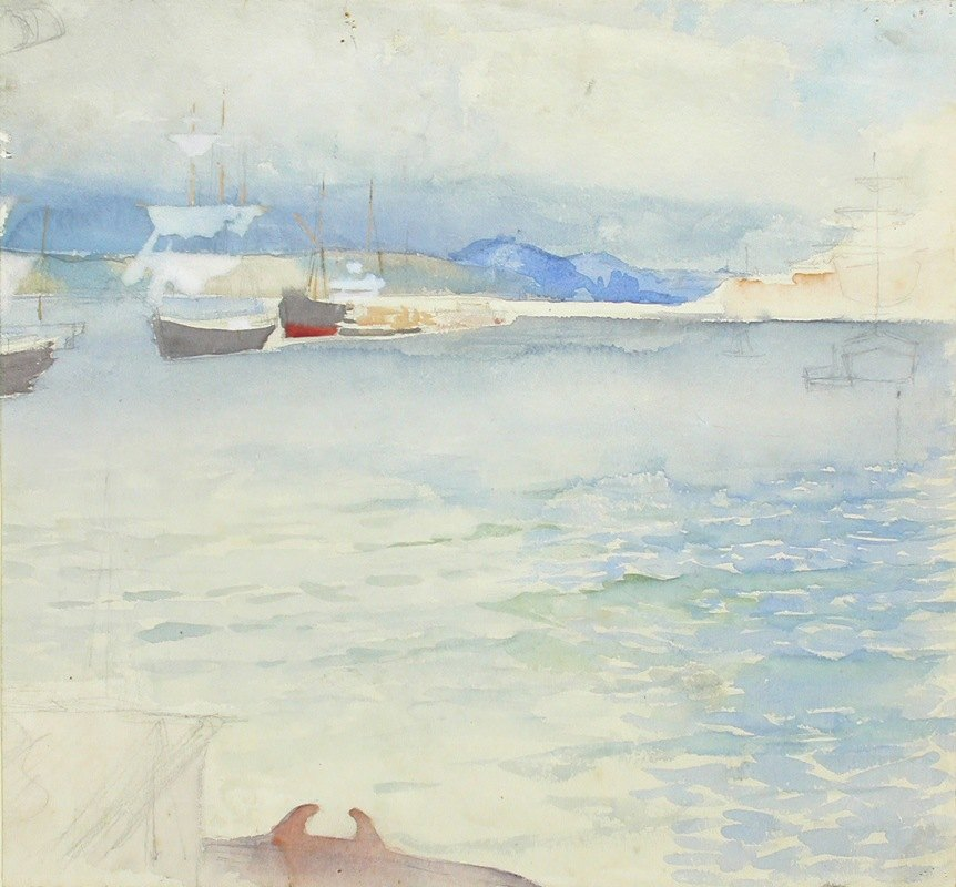 Albert Edelfelt - Haikon lahti