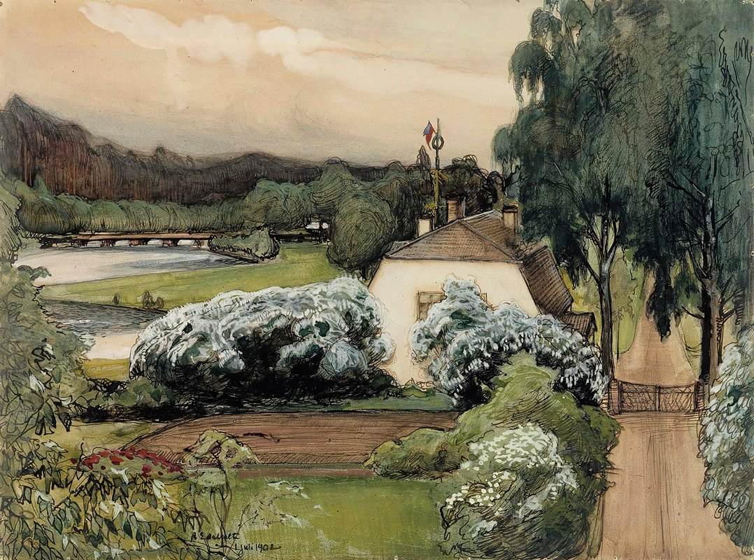 Albert Edelfelt - The Foreman's House at the Saari Manor