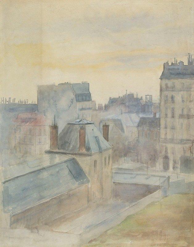 Albert Edelfelt - View of the artist's studio in Paris