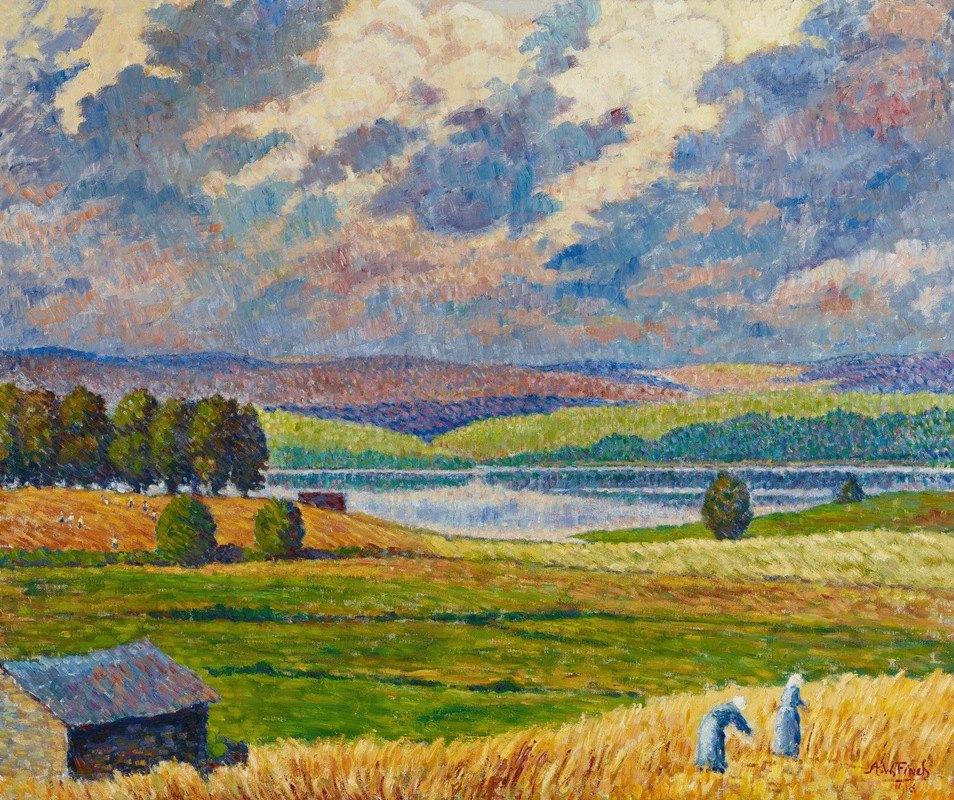Alfred William Finch - Landscape from Padasjoki