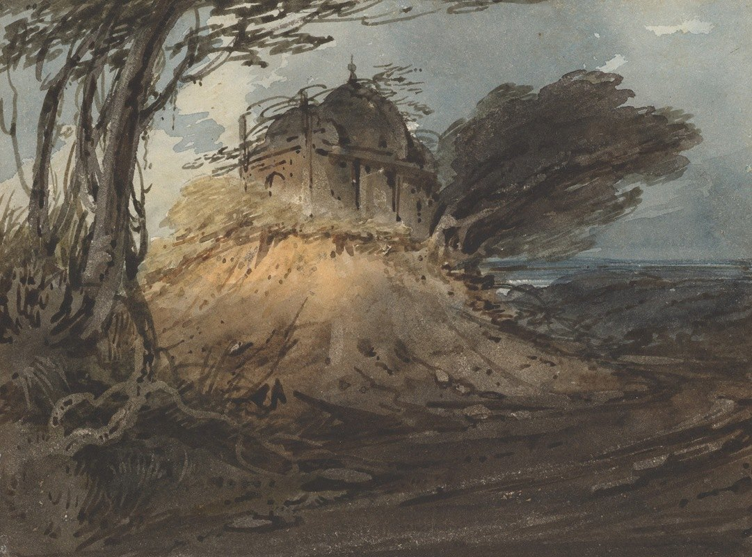 George Chinnery - Indian Temple