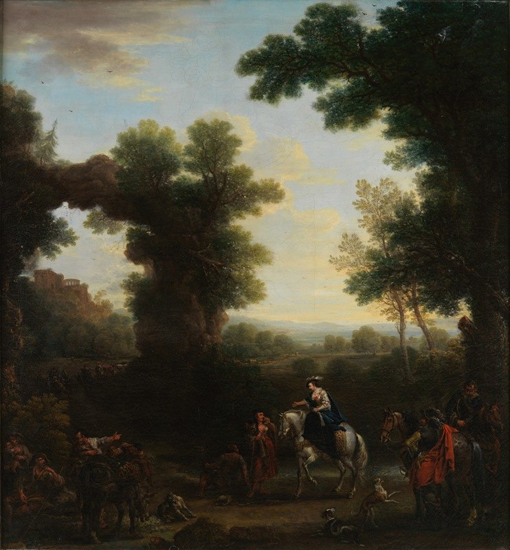 John Wootton - Classical Landscape with Gypsies