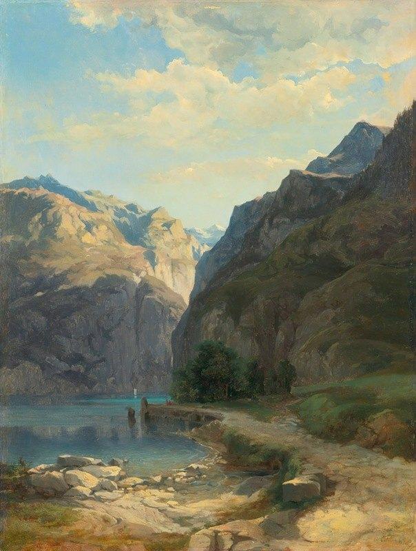 Alexandre Calame - L'axenstrasse (Lac Des Quatre-Cantons)