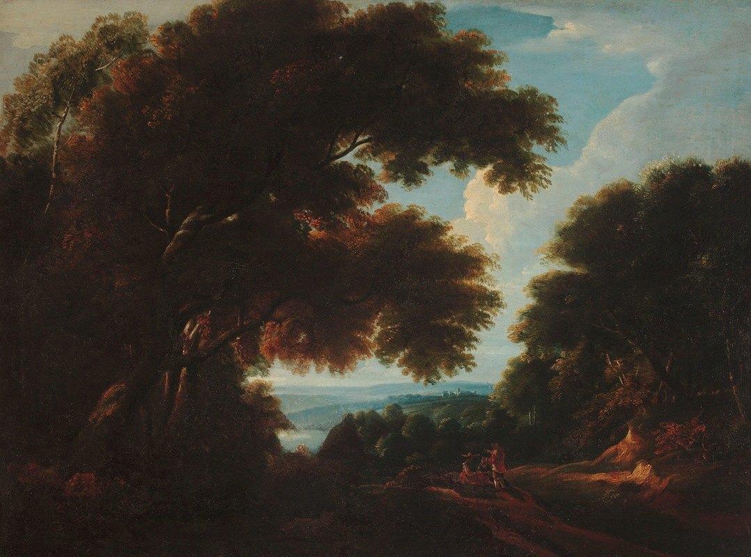 Jacques d'Arthois - Forest landscape with figures
