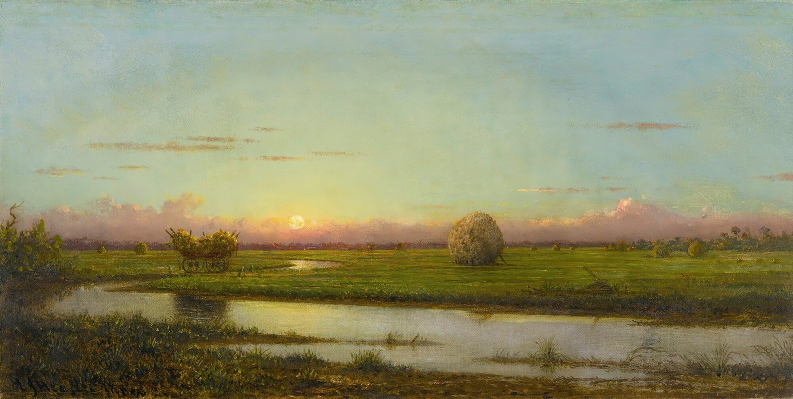 Martin Johnson Heade - Sunset Over Newburyport Meadows