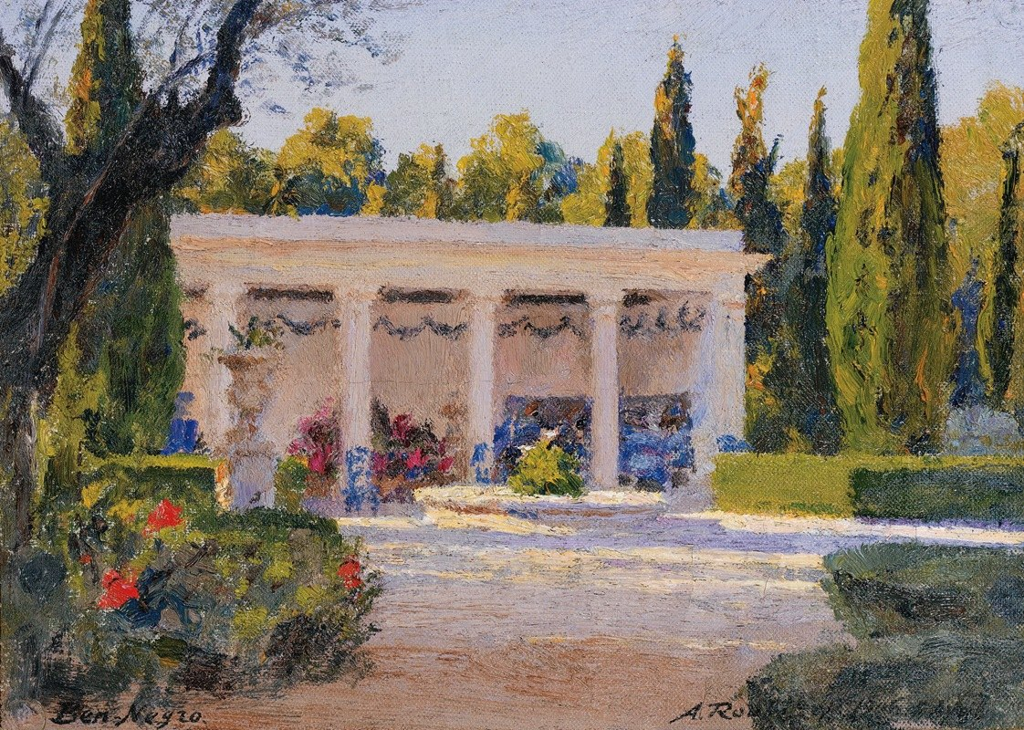 Alexandre Roubtzoff - A Loggia In The Ben Negro Park In Bizerte
