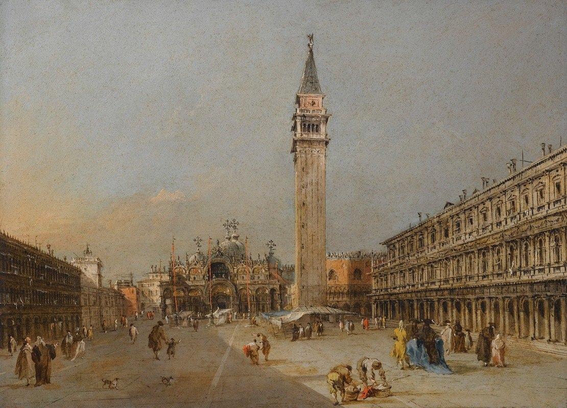 Francesco Guardi - The Piazza San Marco With The Basilica And Campanile