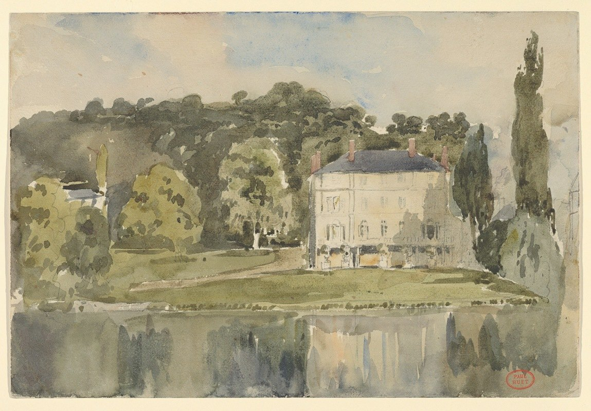 Paul Huet - View of the Château at Folembray