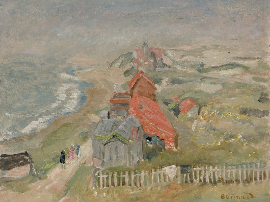 Pierre Bonnard - La Maison Au Bord Du Chemin Ou Maisons Sur La Falaise