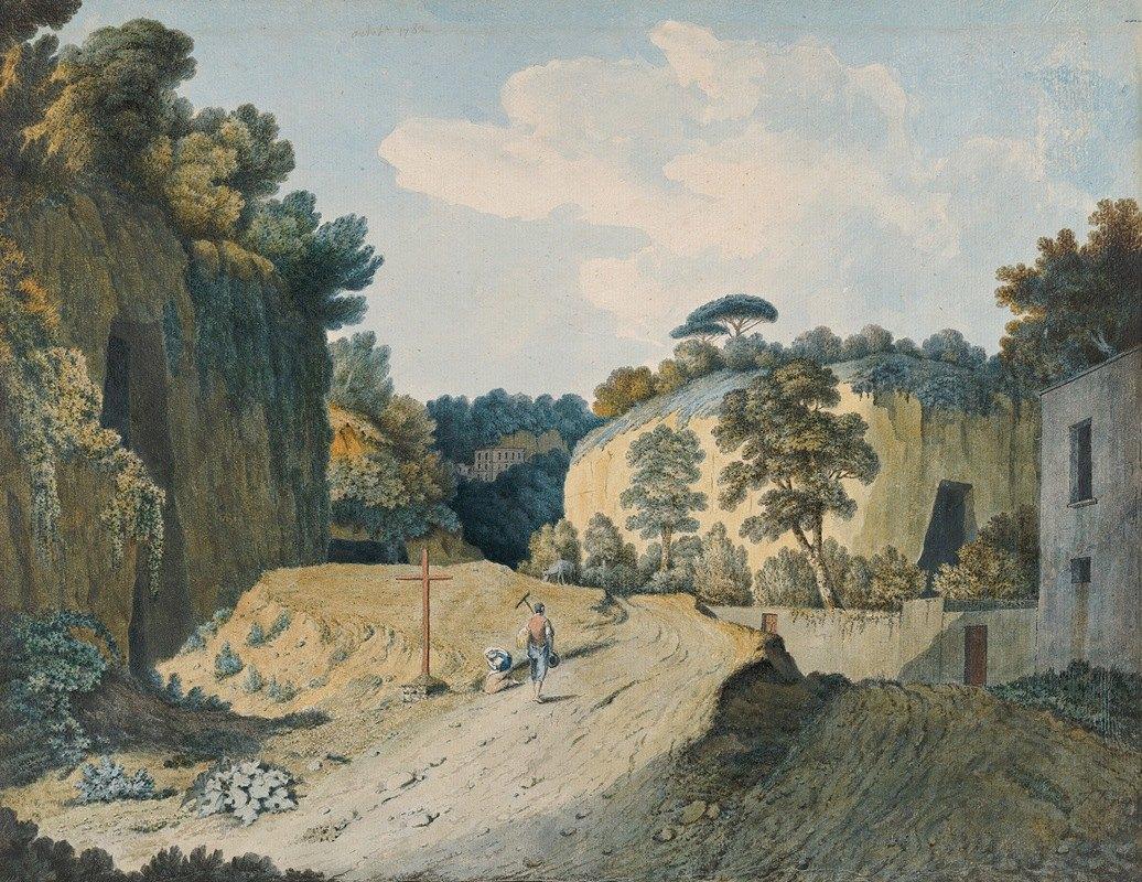 Thomas Jones - A Road in a Gorge near Naples