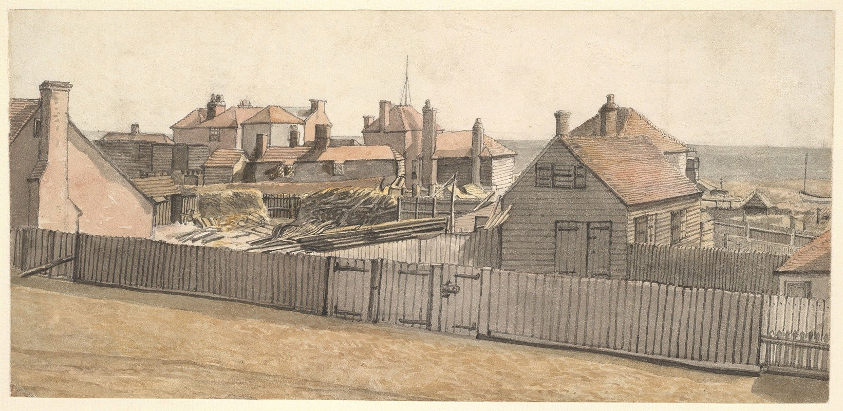 William Henry Hunt - Fishermen's Cottages and Other Houses on the Beach at Hastings