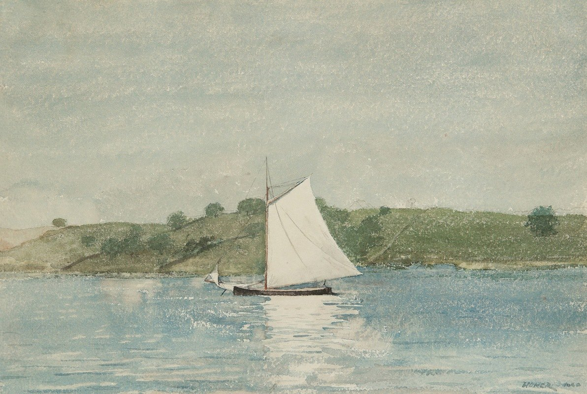 Winslow Homer - Sailing Calm Water
