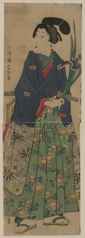 Tsukioka Yoshitoshi - Kakitsubata o matsu wakashū