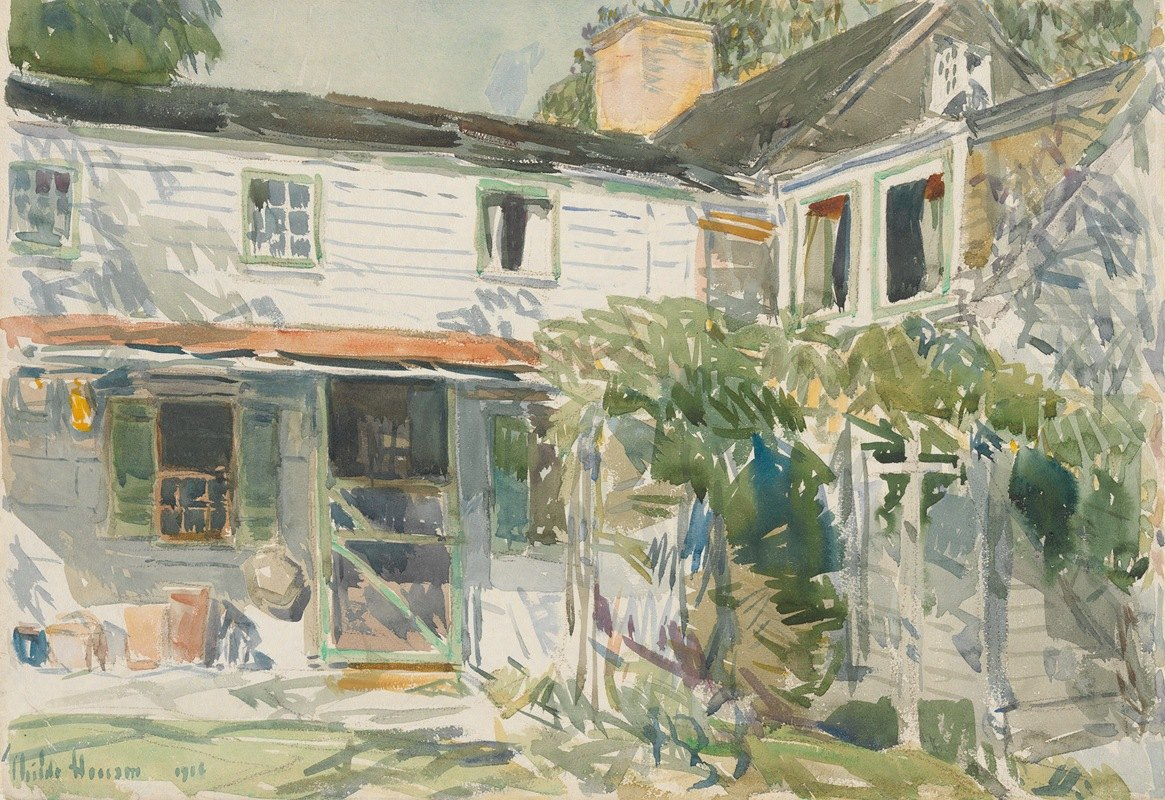 Childe Hassam - Back of the OldHouse