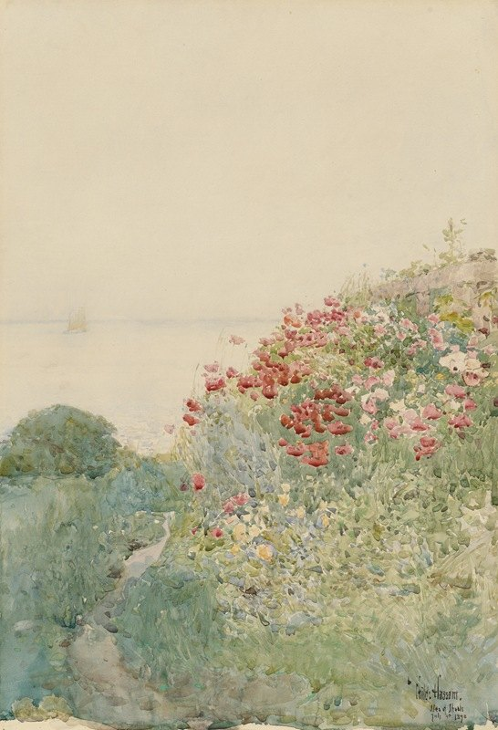 Childe Hassam - Field of Poppies, Isles ofShoals