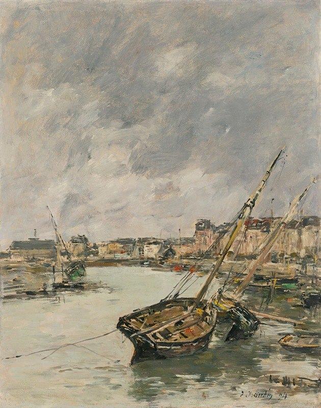 Eugène Boudin - Trouville, Le Port, Marée Basse