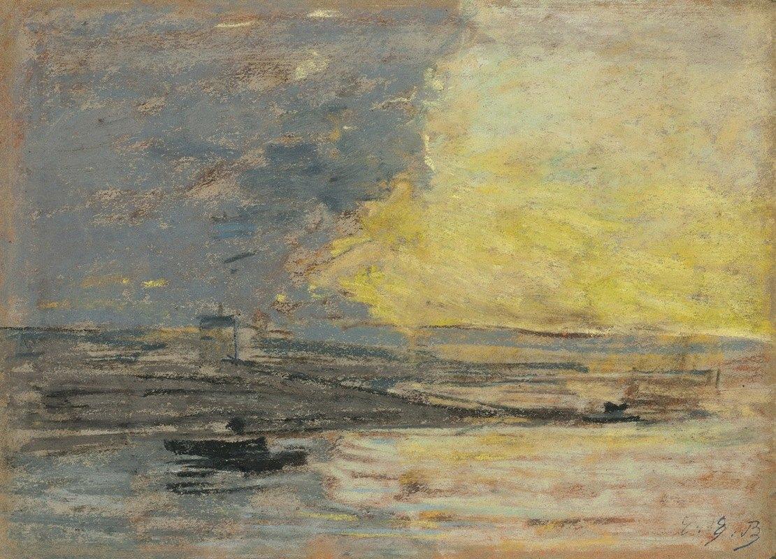 Eugène Boudin - Seaside, Port of Honfleur