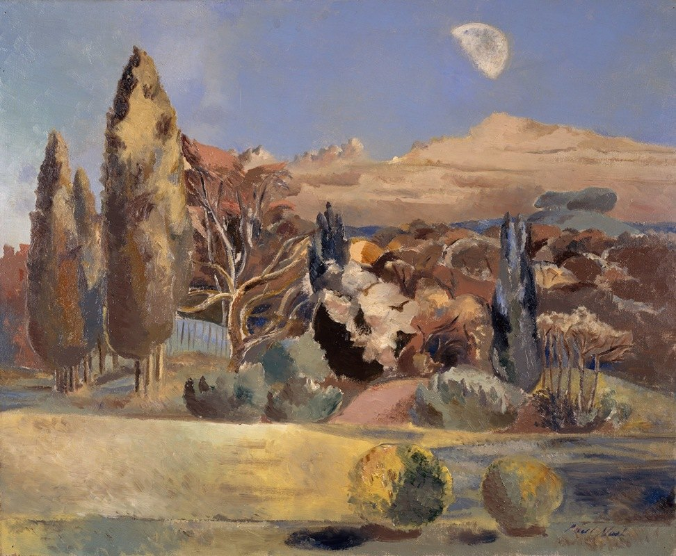 Paul Nash - Landscape of the Moon's First Quarter