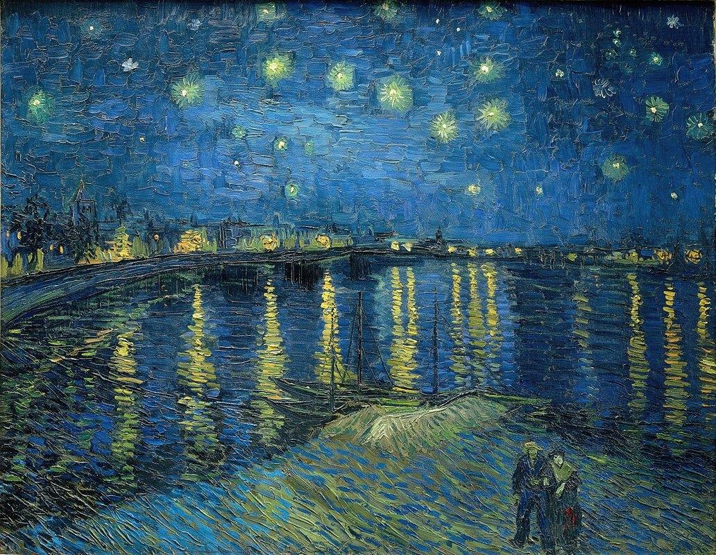 Vincent van Gogh - Starry Night Over the Rhone