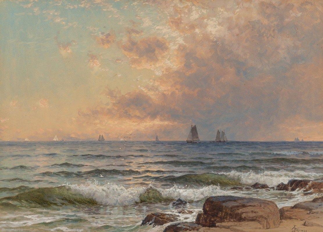 Alfred Thompson Bricher - Sails at Sunset