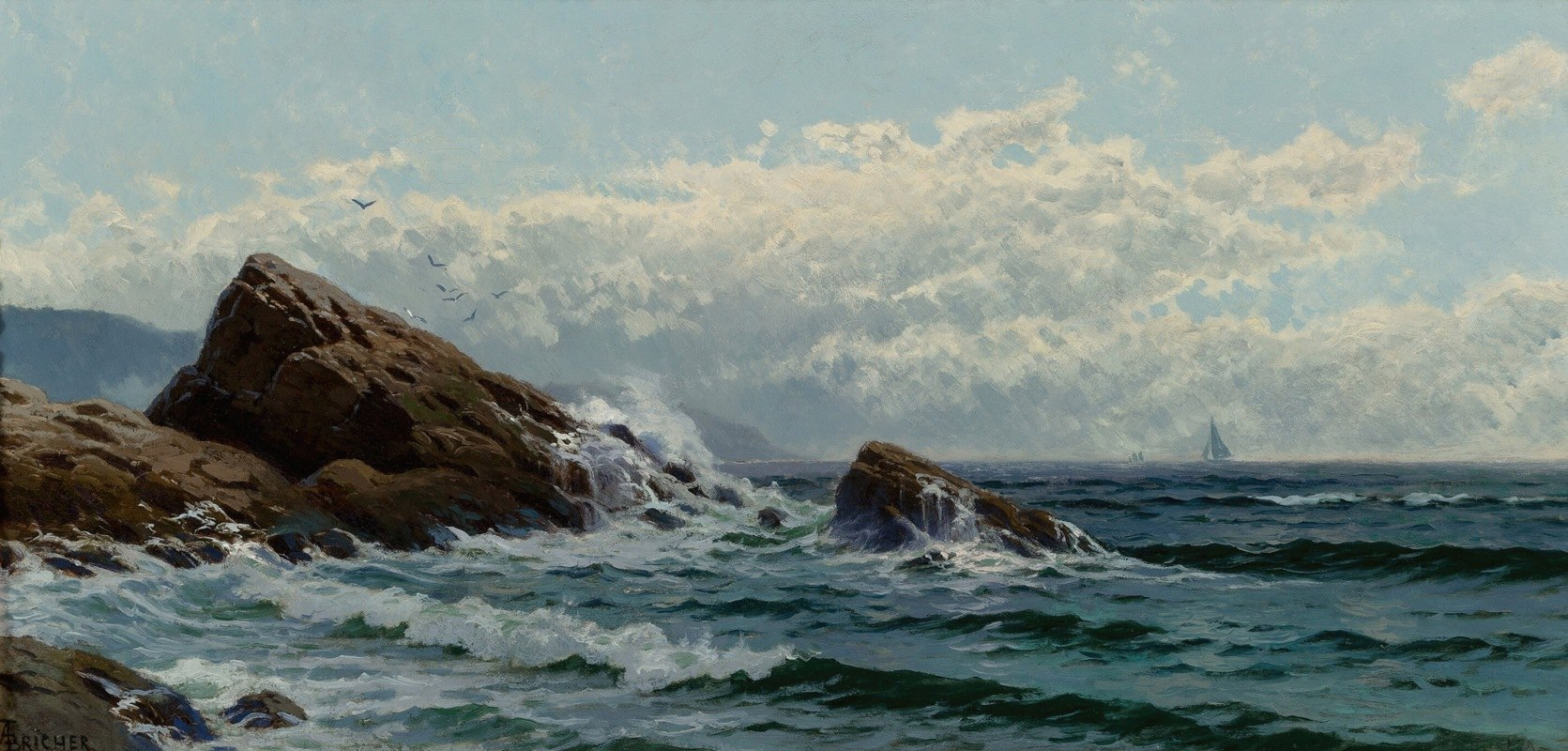 Alfred Thompson Bricher - Crashing Waves