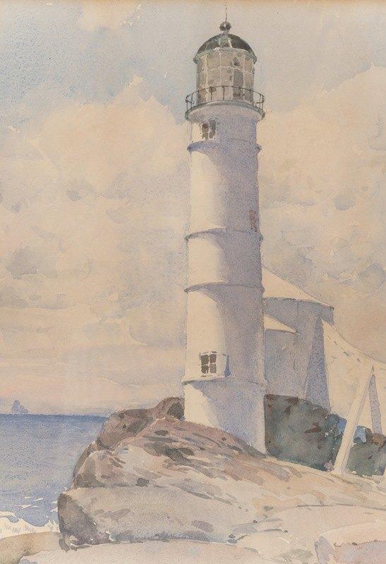 Childe Hassam - Lighthouse, Isle of Shoals