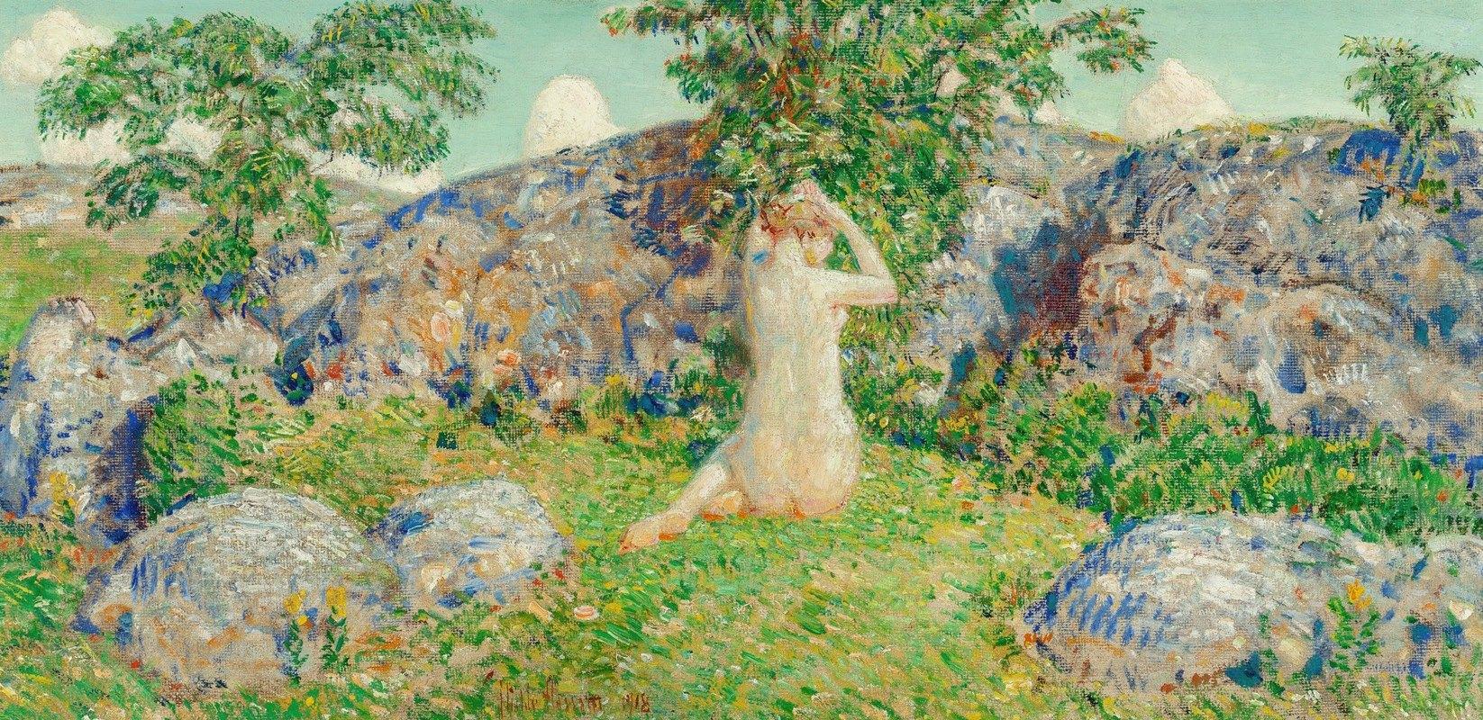 Childe Hassam - The Rocks of Cape Ann