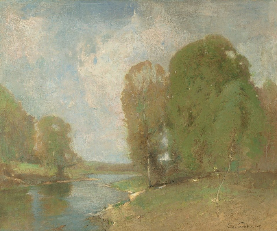 Emil Carlsen - Meadow Brook
