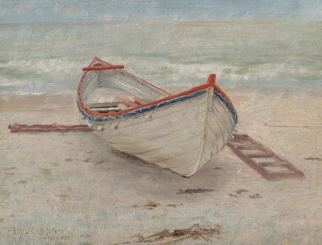 Emil Carlsen - Fishing Boat on Shore
