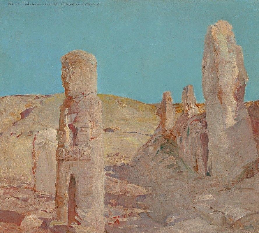 Giulio Aristide Sartorio - Ruins, Tiahuanaco